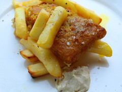 Meal time (Tony Worrall Foto) Tags: uk food fish english dinner tomato lunch fry nice dish image cook tasty plate eaten chips lancashire eat potato meal mayo taste cooked northern chipped grub unhealthy fishandchips iatethis foodie flavour batter foodpictures picturesoffood 2013tonyworrall fishandchipsimage