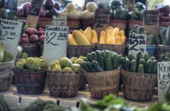 2 Dollars (Terry G Alexander) Tags: red food green vegetables yellow fruit basket sale handheld hdr highdynamicrange