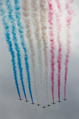 Red, White & Blue skies (Mikepaws) Tags: uk blue red summer england white london june flying official team display unitedkingdom britain aircraft military smoke nine capital royal trails parade formation celebration event annual airforce flyover redarrows raf armedforces aerobatic ceremonial troopingthecolour flypast royalairforce unitedkingdomofgreatbritain trooping bigwing fixedwing 2013 birthdayparade