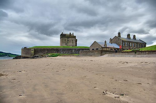 Broughty Ferry Castle by Dundee Scotland - A View from the Beach