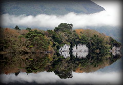 Muckross House, Killarney (Bren Lynch Photography) Tags: trees ireland cloud house mist lake reflection fog grey mirror scenery colours kerry muckross killarney 600d