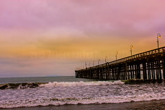 cloudy! ( In 2 Making Images | L.A.) Tags: motion shore losangelescaliforniausa venturacountypierbeach pinkcolorswaterlights