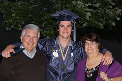 Ron, Kyle and Maureen (Ronto) Tags: kyle newhampshire ron kingston grandson maureen kylesgraduation sanbornregionalhighschool