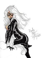 Black Cat (paulastorm) Tags: pen blackcat comics paula marker adamhughes paulacruz