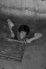 Monster (Du Monde Dans L'Objectif) Tags: old portrait bw paris abandoned underground mines former exit catacombs exploration quarry career urbex catcombes