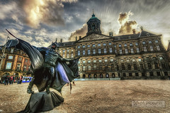 Batman! [Explored 5th July, 2013!] (Wameq R) Tags: amsterdam clouds photoshop canon europe afternoon sunny batman 1740mm damsquare photomatix 5dm3 hdrefex 5dmiii wmpictures