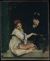 Girls at a Window - Raimundo de Madrazo y Garreta (luis_colan) Tags: newyork art painting metropolitanmuseum