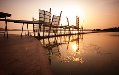 Lihu Lake () Tags: sunset summer sky lake sunshine architecture canon landscape eos cityscape sunsetglow ef ef1740f4l taihulake canoneos5dmarkii lihulake eos5dmarkii