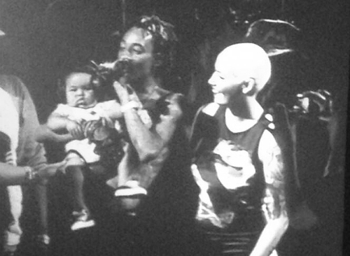 Wiz Khalifa & Amber Rose bring out their baby BASH