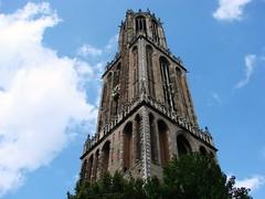 Domtoren (indigo_jones) Tags: holland tower netherlands architecture clouds corner utrecht domtoren gothic nederland arches bluesky icon historic belltower domplein 1300s