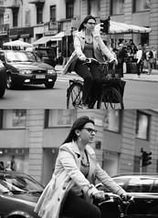 [La Mia Citt][Pedala] (Urca) Tags: portrait blackandwhite bw italia milano bn ciclista biancoenero bicicletta pedalare 2013 5798 dittico ritrattostradale nikondigitalefilippetta