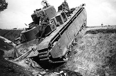 Soviet T-35 Soviet heavy tank t-35 abandoned in a roadside ditch because of failure or shortage of fuel. Similar, non-combat circumstances were the main cause of the loss of almost all these tanks during the first weeks of the war in 1941