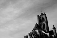 Gent Sint-Niklaaskerk (wirsindfrei) Tags: blackandwhite bw blackwhite nikon belgium belgique ghent gent schwarz gand belgien schwarzweis nikond60 schwarzweisblackwhite