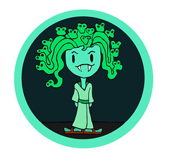 B-Pop Green Halloween Picture Image Vampire Super Hero Girl (jennytomil) Tags: halloween pumpkin bracelet badgirl bpop kidshalloweencostume badgirlposter bpopbadgirlposter peeweekid bpophalloweencostume halloweenbpop