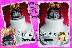 bolo de casamento (Roberta Rodrigues Arte em E.V.A) Tags: topo eva bolo casamento decoração personalizado noivinhos cenográfico