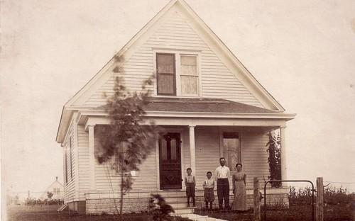 Postcard image of John Livingston family circa 1913