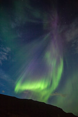 Aurora borealis in Faskrudsfjordur (*Jonina*) Tags: longexposure sky night iceland 500views sland northernlights auroraborealis ntt himinn 3000views 2500views norurljs 100faves 50faves 4000views 6000views explored 7000views 9000views 25faves fskrsfjrur faskrudsfjordur jnnagurnskarsdttir august27th2013 vision:plant=0739 vision:outdoor=0815 vision:sky=0837 vision:clouds=0765