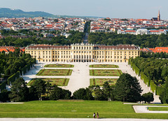 Vienna - City Showpiece (Nomadic Vision Photography) Tags: vienna travel summer scale gardens architecture austria view palace citiscape schönbrunnpalace jonreid rococodesign tinareid nomadicvisioncom