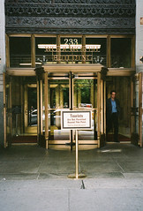 tourists not allowed (christy kurtz) Tags: nyc newyorkcity film 35mm buildings financialdistrict woolworth leicaminilux