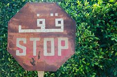 (Sherif Wagih) Tags: alexandria sign egypt arabic stop