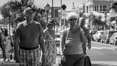 We Walk With Our Heads Held High (Twistedreload) Tags: life travel ladies portrait people sun streets men monochrome photography mono town photo blackwhite spain nikon candid streetphotography bnw streetportraits ligthroom d3100 streettogs