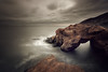 Saddle Rocks, Cullercoats Bay (Alistair Bennett) Tags: seascape sunrise bay harbour northsea desaturated tynemouth tynewear nd09 cullercoates saddlerocks canonef1740mmƒ4lusm gnd045se