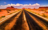 Road to Monument Valley -  Digital Art (Jeff Clow) Tags: travel arizona photomanipulation photoshop landscape digitalart western southwestern digitalartwork photoartwork ©jeffrclow