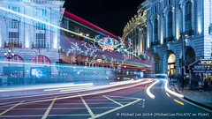 Piccadilly Circus (P1240941) (Michael.Lee.Pics.NYC) Tags: street light london night long exposure traffic circus piccadilly trail regent