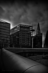 Shard (Georgio's Photography) Tags: blackandwhite bw building london monochrome thames mono view southbank shard lead scenicsnotjustlandscapes