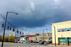 Corning (Premshree Pillai) Tags: blue sky newyork fall clouds skies cloudy ominous marathon upstate wineglass corning wineglassmarathon fall2013 wineglassmarathonweekend