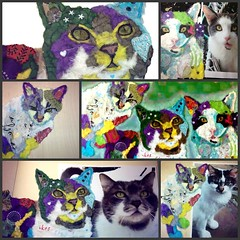 Torn Paper Cat Portraits (all things paper) Tags: petportraits chigirie tornpaperart
