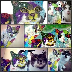 Torn Paper Cat Portraits (all things paper) Tags: petportraits chigirie tornpaperart