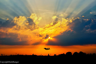 F15E Evening Landing Sunset #EXPLORED#
