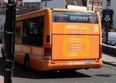 Arriva Midlands North 2561 KX51UCS Optare Solo ex Midland 1511 (chrisbell50000) Tags: orange bus ex back shropshire branded rear north 8 shrewsbury route deck solo single end former brand branding midland dg midlands decker arriva 1511 8b 8a 2561 optare m850 liyell kx51ucs chrisbellphotocom