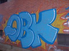 Immagine 612 (en-ri) Tags: muro wall writing torino graffiti blu giallo azzurro grugliasco qbk