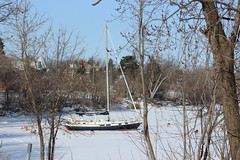 Boat stuck in ice (pegase1972) Tags: winter snow canada cold quebec hiver qubec neige qc montrgie monteregie