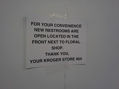 Back restrooms moved to the front (l_dawg2000) Tags: 2004 mississippi supermarket ms grocerystore grocery renovation remodel kroger 2000s southaven 2013 krogerfuelcenter krogershoppingcenter krogermilleniumstyle 2013remodel kroger2012decor