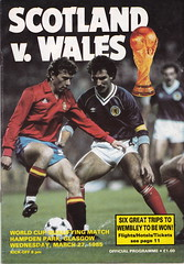 Scotland vs Wales - 1985 - Front Cover Page (The Sky Strikers) Tags: world cup jock wales mexico scotland win 86 better hampden qualifier souness