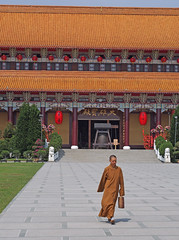 EDITVOM3765 (Tamas V) Tags: china street red orange brown walking religious roc island temple four bell robe walk buddha candid buddhist religion chinese taiwan monk olympus monastery monks kaohsiung micro taipei lantern traveling shan f18 18 fo gong 45mm bower 43 omd thirds guang garb m43 mft fourthirds em5 o45