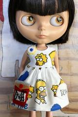 SIMPSONS DID IT (Button Arcade) Tags: wool beer doll dress cartoon felt thesimpsons blythe duff pockets buttonarcade