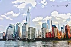 WTC HDR (orestrepo85) Tags: city ny newyork rio buildings river edificios downtown day manhattan worldtradecenter ciudad hudsonriver wtc bigapple hdr nuevayork nuncaduerme granmanzana neversleep