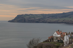 robin hoods bay (ginger_scallywag) Tags: uk england panorama tower canon boats coast fishing hand flood tamron northeast stitched daffodils handstitched headland captainjamescook whitbyabbey staithes robinhoodsbay sandsend cowbarnab cs6 eos450d yorkshirecoble marsk stgermainschurch