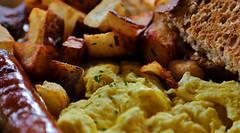 Breakfast Textures (sea turtle) Tags: food breakfast island restaurant hardwarestore potatoes toast egg sausage meal eggs vashon scrambledeggs vashonisland
