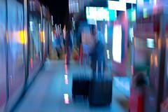 """""""Elmer"""" Station (SylvainMestre) Tags: station colours couleurs shuttle quai elmer icm vibrance aéroport partdieu navette intentionalcameramovement rhôneexpress"""