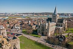 Rochester Cathedral - 1 (bvi4092) Tags: city blue sky building church photoshop nikon worship exterior cathedral religion bluesky rochester nikkor rochestercathedral d300s 18105mmf3556 nikon18105mmf3556