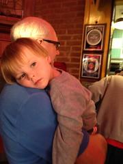 "Paul Rests on Grandpa Miller's Shoulder • <a style=""font-size:0.8em;"" href=""http://www.flickr.com/photos/109120354@N07/32268514004/"" target=""_blank"">View on Flickr</a>"
