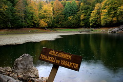 It is dangerous and forbidden to swim in the lake. (Atila Yumusakkaya) Tags: yedigöller bolu turkey yumusakkaya lake nature lac λίμνη 湖 озеро lago see turkei