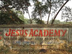 Jesus Academy... (Railroad Rat) Tags: varanasi banaras kashi shiva city india uttar pradesh ganga river plain mother mata hindu hindi ganesh parvati rudraksh medicine om namah shivaya jai bum bolenath