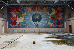 Sport Peace (I g o r ь) Tags: abandoned decay decayed rust urban forgotten lostplaces urbanexploration ussr cccp sovietunion murals communism