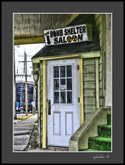 Bomb Shelter Saloon (the Gallopping Geezer '4.5' million + views....) Tags: sign signs signage business store storefront ad advertise advertisetment smalltown backroads backroad saultstmarie mi michigan upperpeninsula up roadtrip canon 5d3 tamron 28300 geezer 2016 bombsheltersaloon bombshelter saloon bar pub tavern drink liquor beer